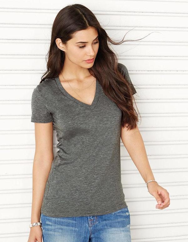 Triblend V-kauluksinen T-paita