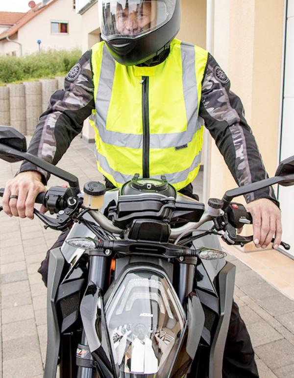 Moottoripyöräilijän Huomioliivi EN-20471
