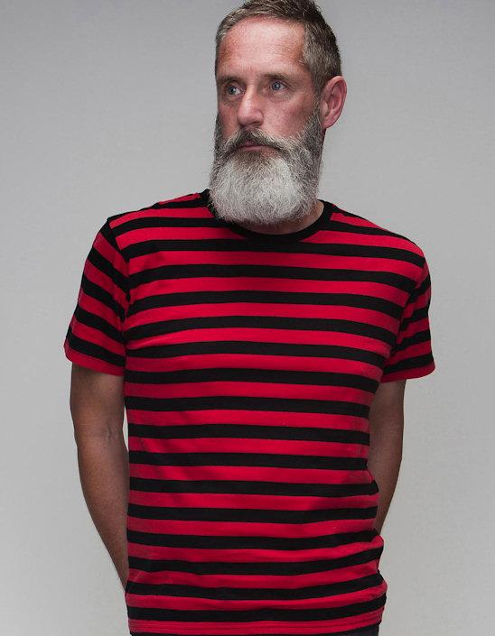 Miesten Stripy T-Paita